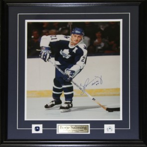 Borje Salming Toronto Maple Leafs Signed 16x20 frame