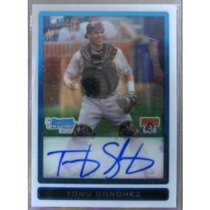 2009 Bowman Chrome Draft Prospects Tony Sanchez Refractor Autograph 269/500