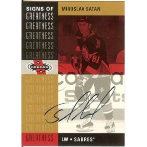 2001-02 Upper Deck Heroes Miroslav Satan SP Authentic Buyback Autograph