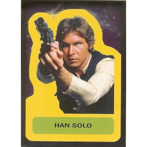 2015 JOURNEY TO STAR WARS THE FORCE AWAKENS STICKER HAN SOLO #S-2
