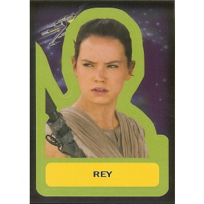 2015 JOURNEY TO STAR WARS THE FORCE AWAKENS STICKER REY #S-4