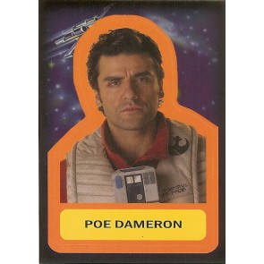 2015 JOURNEY TO STAR WARS THE FORCE AWAKENS STICKER POE DAMERON #S-6