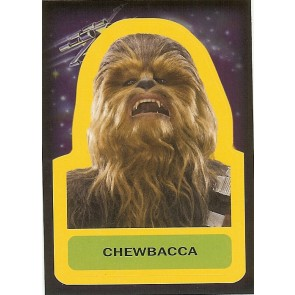 2015 JOURNEY TO STAR WARS THE FORCE AWAKENS STICKER CHEWBACCA #S-7