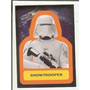 2015 JOURNEY TO STAR WARS THE FORCE AWAKENS STICKER SNOWTROOPER #S-13