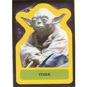2015 JOURNEY TO STAR WARS THE FORCE AWAKENS STICKER YODA #S-18