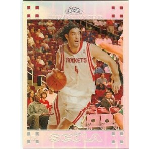 2007-08 Topps Chrome Luis Scola Rookie Refractor 0360/1499