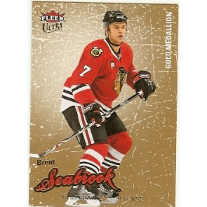 2008-09 Fleer Ultra Brent Seabrook Gold Medallion