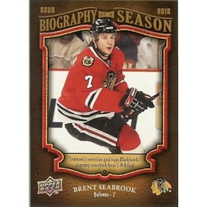 2009-10 Upper Deck Brent Seabrook Biography of a Season