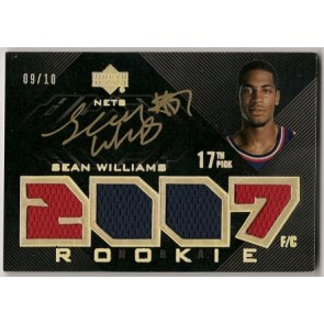 2007-08 Upper Deck Black Sean Williams Quad Jersey Autograph 09/10 2 color