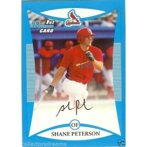 2008 Bowman Draft Prospects Blue #BDPP33 Shane Peterson 230/399 CARDINALS