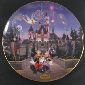 Disney's 40th Anniversary Sleeping Beauty's Castle Bradford Exchange Collectible Plate