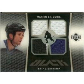 2007-08 Upper Deck Black Martin St. Louis Quad Memorabilia 3 color