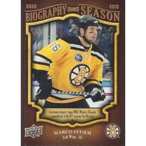 2009-10 Upper Deck Biography of a Season Marco Sturm Card# BOS-20
