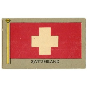 1950 Topps Flags of the World SWITZERLAND