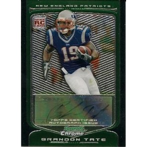 2009 Bowman Chrome Brandon Tate Autograph Rookie