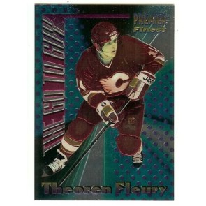 1994-95 TOPPS PREMIER THE GO TO GUY THEOREN FLEURY Insert Card # 7 CALGARY