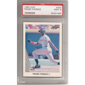 1990 Leaf Frank Thomas Graded PSA 9 Mint