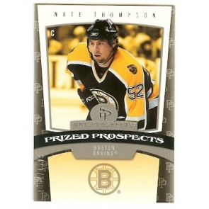 2006-07 Fleer Hot Prospects Nate Thompson Prized Prospects Rookie 1851/1999