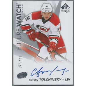 2016-17 SP AUTHENTIC FUTURE WATCH SERGEY TOLCHINSKY AUTOGRAPH RC 157/999