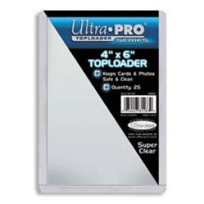Ultra Pro 4x6 Top Loaders 25 Count Pack