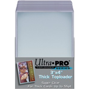 Ultra Pro 3x4 Thick Top Loaders 25 Count Pack (5 Lot)