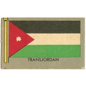 1950 Topps Flags of the World TRANSJORDAN