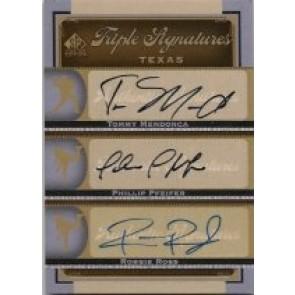 2012 SP Signature Edition Triple Signatures Mendonca Phillip Pfeifer Robbie Ross