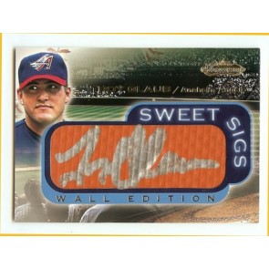 2001 Upper Deck Sweet Spot Troy Glaus Sweet Sigs Wall Edition Autograph