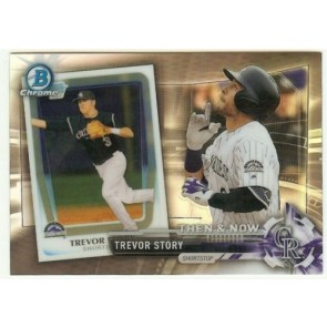 2017 Bowman Chrome TREVOR STORY Bowman Then & Now #BTN-4 Rockies