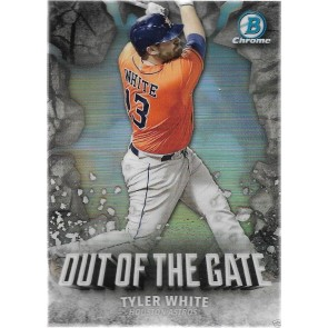 2016 Bowman Chrome Tyler White Out of the Gate Insert SP #OOG-2 Astros