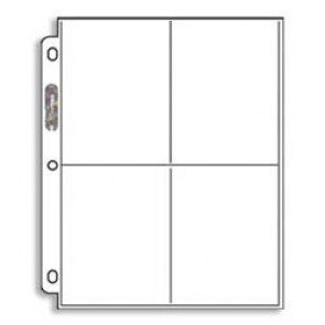 """Ultra Pro Pages 4 Pocket - 3 1/2"""" x 5"""" 100 Pack"""
