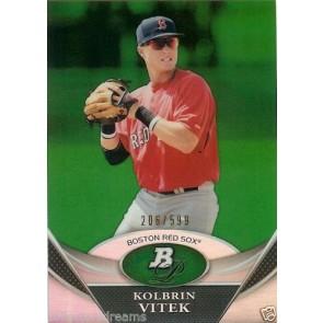 2011 Bowman Platinum Kolbrin Vitek Prospects Green Refractors #BPP17 #'d 206/599