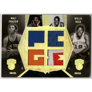 2007-08 Upper Deck Black Walt Frazier Willis Reed Ultimate Quad Patch 3 color 06/10
