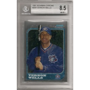 1997 Bowman Chrome Vernon Wells Rookie Graded BGS8.5 NM-Mint