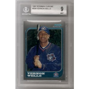 1997 Bowman Chrome Vernon Wells Rookie Graded BGS9 Mint