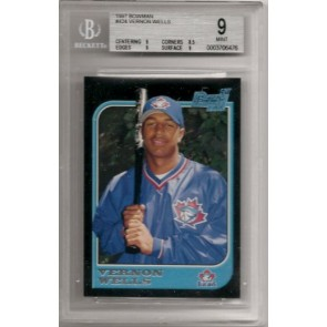 1997 Bowman Vernon Wells Rookie Graded Beckett BGS 9 Mint