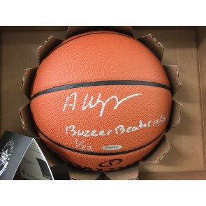Upper Deck Authenticated UDA ANDREW WIGGINS Autographed Inscribed Offficial Basketball Serial #'d 01/22