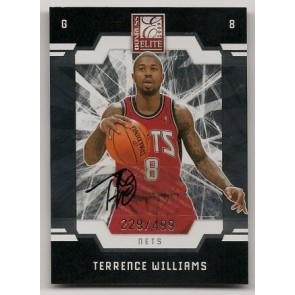 2009-10 Donruss Elite Terrence Williams Autograph Rookie 229/499