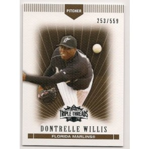 2007 Topps Triple Threads Dontrelle Willis Single 253/559