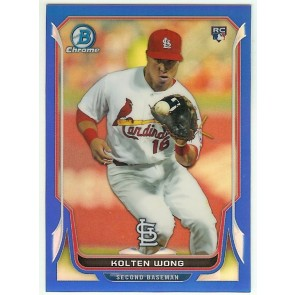 2014 Bowman Chrome Blue Refractor Kolten Wong Cardinals  #20 RC #202/250