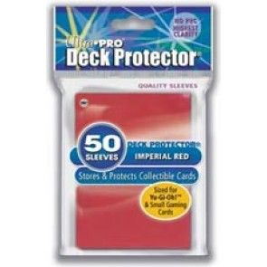 Ultra Pro Yugioh Deck Protectors Imperial Red (3 Lot)