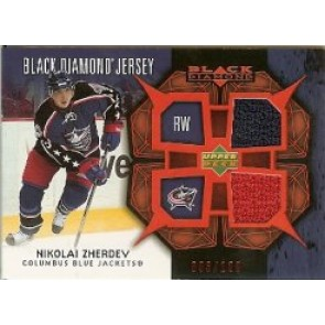 2007-08 Upper Deck Black Diamond Nikolai Zherdev Dual Game Jersey 2 color 093/100